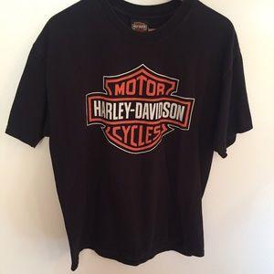 Harley Davidson Spykes Clinton County tshirt